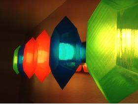 五彩菱形LED灯罩